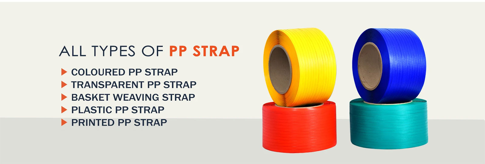 Coloured PP Strap, Transparent PP Strap, Basket Weaving Strap, Plastic PP Strap, Printed PP Strap, Manufacturer, Supplier, Ahmedabad